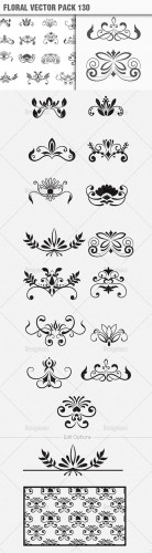 Floral Vector Pack 130