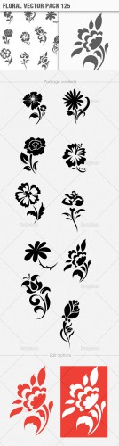 Floral Vector Pack 125