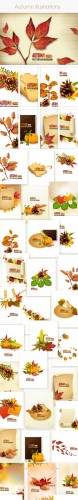 Autumn Vector Stock Illustrations Bundle