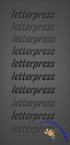 Letterpress Photoshop Styles