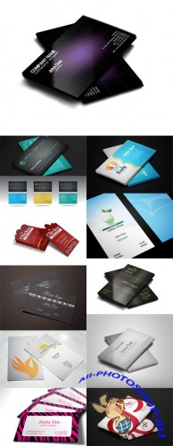 12 Stylish Vector Business Cards Templates