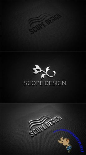 3 Metal Logo Mock-Up Templates PSD