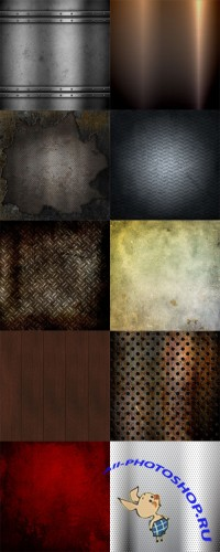 10 Rusty and Grunge Metalic Backgrounds