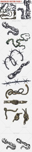 Shackled Vector Illustrations Pack 1