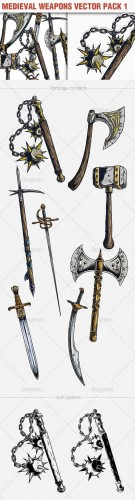 Medieval Weapons Vector Pack 1