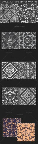 Seamless Patterns Vector Pack 105
