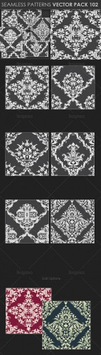 Seamless Patterns Vector Pack 102