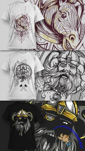 T-Shirt Design Vector Illustrations Pack 12