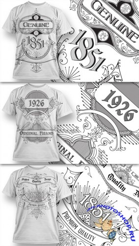 T-Shirt Design Vector Illustrations Pack 10