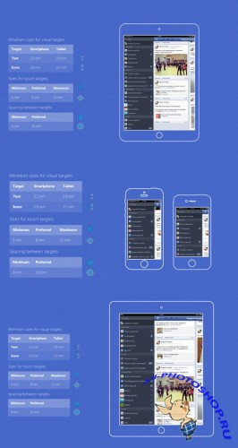 Touch Sizes Checker PSD