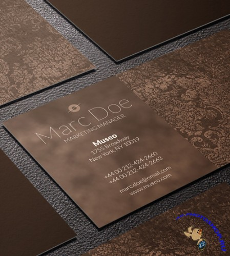 Brown Vintage Business Card Template PSD