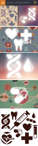 Simple Medical Vector Elements Set 1