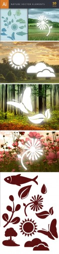 Simple Nature Vector Illustrations Pack 1