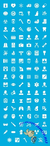 Windows 8 Medical Icons Set PSD