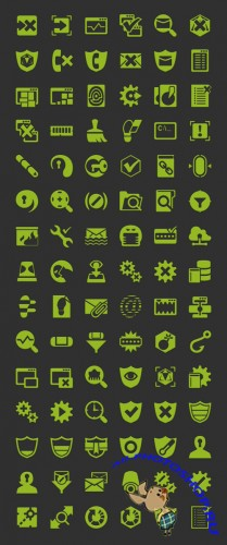Android Security Icon Set PSD