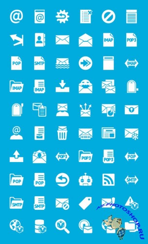 Windows 8 Mail Icon Set PSD