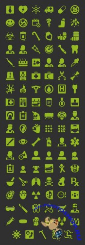 Android Medical Icons Set PSD