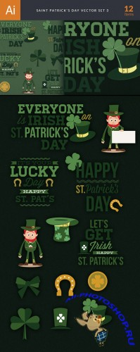 Saint Patrick's Day Vector Illustrations Pack