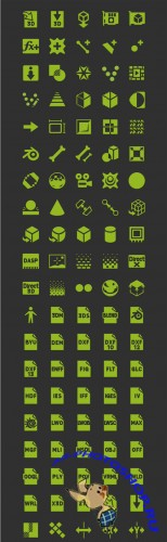 Android 3D Graphics Icon Set PSD
