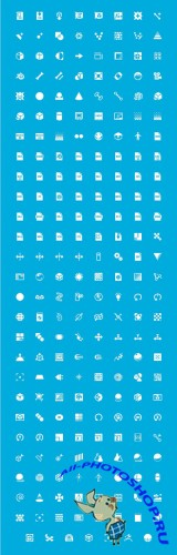 Windows 8 3D Graphics Icons Set PSD