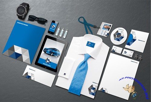 Corporate Identity Mockup Template 4 PSD