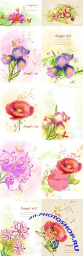 Floral Vector Illustrations Volume 4