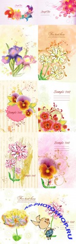 Floral Vector Illustrations Volume 5