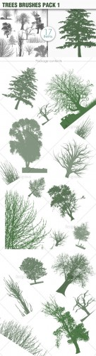 Trees Photoshop Brushes Pack 1