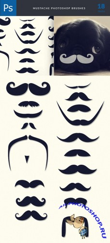 Moustaches Brushes Photoshop Brushes Pack 1