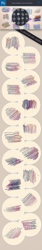 Pencil Photoshop Brushes Pack 3