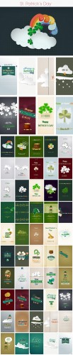 50 St. Patrick's Day Vector Illustrations Bundle