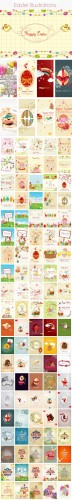 100 Easter Vector Illustrations Bundle