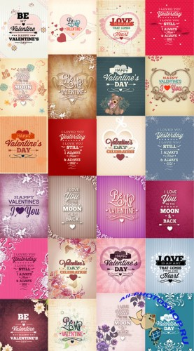 25 Love Vector Illustrations Set 1