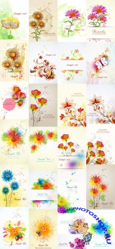 26 Floral Vector Illustrations Set 1