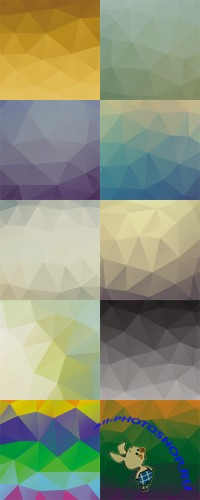 Colored Geometric Vector Backgrounds