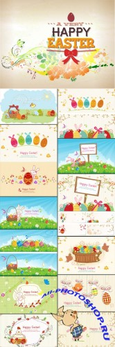 15 Easter Vector Illustrations Set