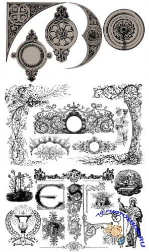 Vintage Ornaments Vector Set