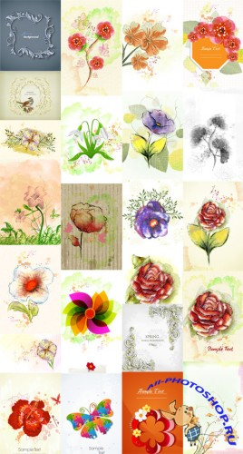 25 Spring Vector Illustrations Set 4