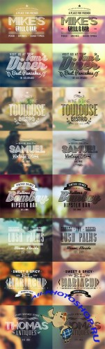Typography Badges Vector Set 2