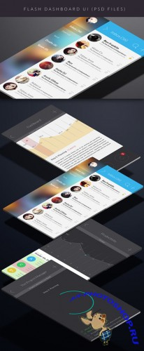 Flat Dashboard User Interface PSD Template