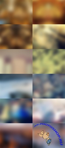 12 Blurred Backgrounds PSD