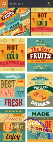 Beverages Vector Illustrations Pack 2
