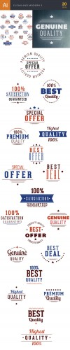 Clean and Modern Vector Elements Set 2