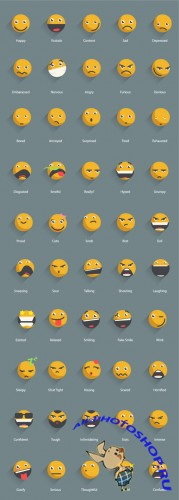 Vector Shadowed Emoticons