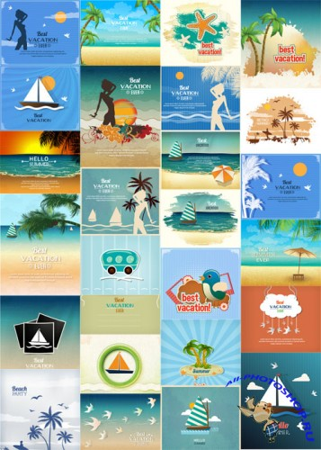 25 Summer Vector Illustrations Set 3