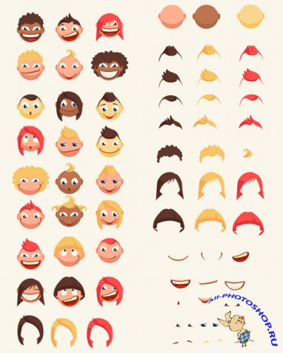 Vector Kids Expressions