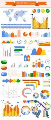 Infographic Financial Vector Illustrations