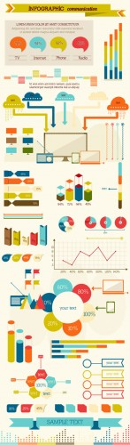 Infographic Communication Vector Illustrations