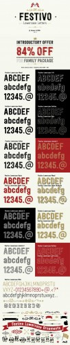Festivo LC - 21 Fonts for $119