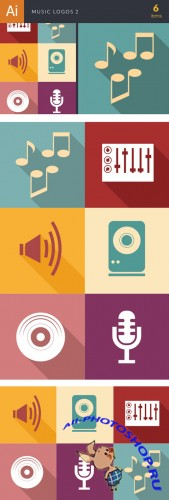 Music Logos Vector Illustrations Pack 2